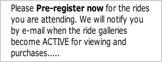 Please Pre-register now for the rides
